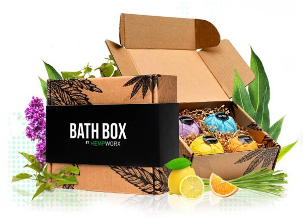 HempWorx Bath Bombs, CBD Bath Box, HempWorx Bath Box
