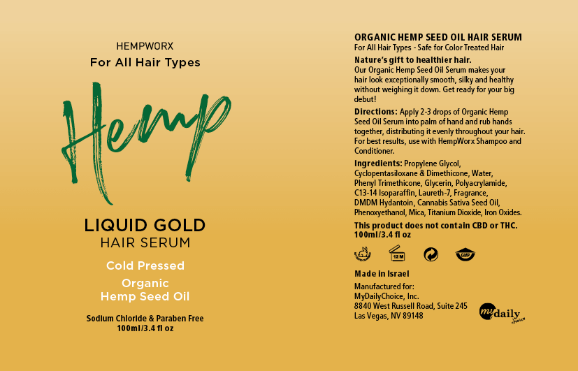 HempWorx Hair Serum Label