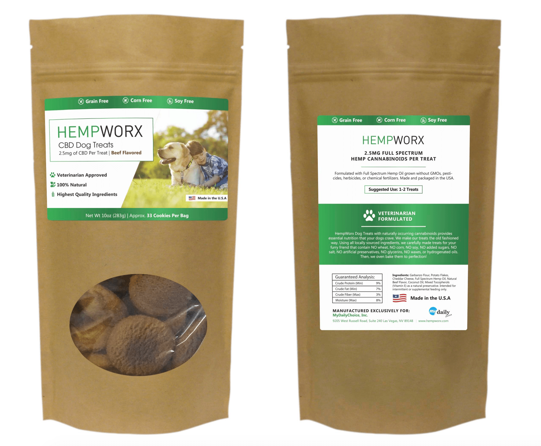 HempWorx Dog Treat Serving Size