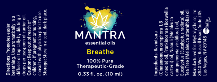 Mantra Breathe Label