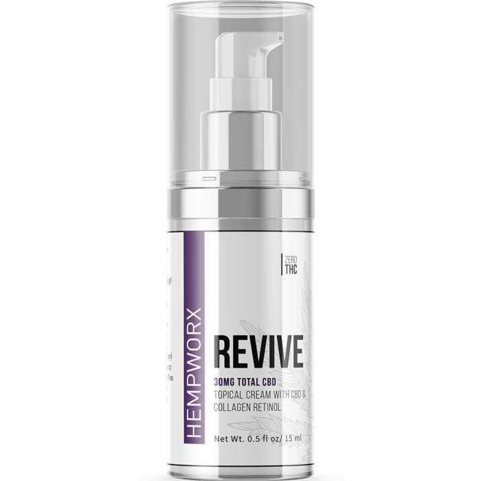 revive retinol cream, revive skin cream ingredients, HempWorx Revive Skin Care Cream Topical CBD