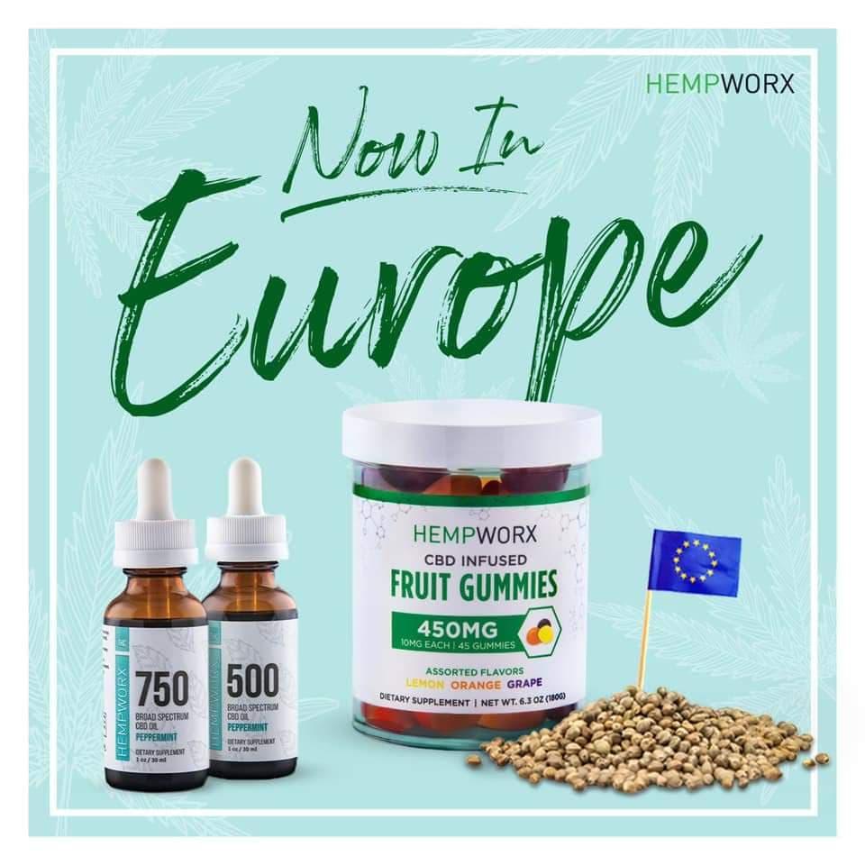 HempWorx UK Europe 2020, Broad Spectrum CBD Products
