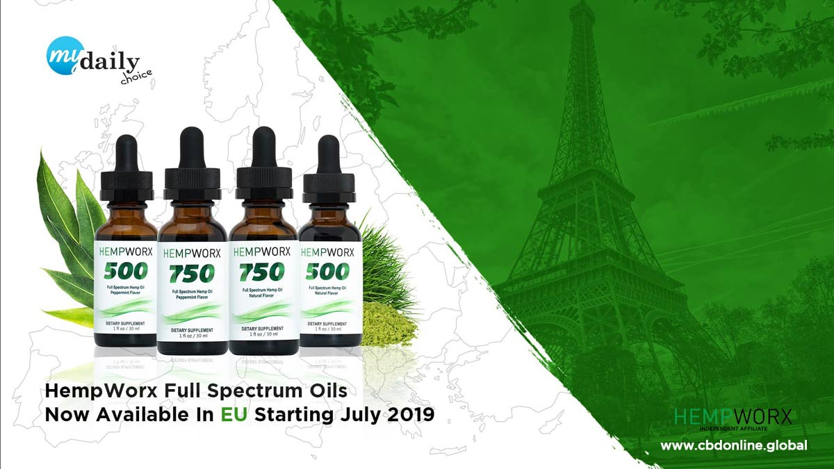 HempWorx UK, Europe, THC CBD, Full spectrum CBD oil
