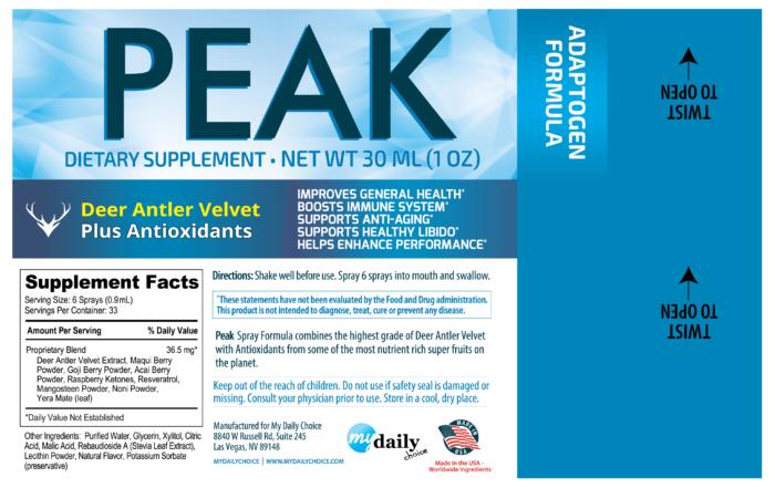 Peak Oral Nutritional Spray