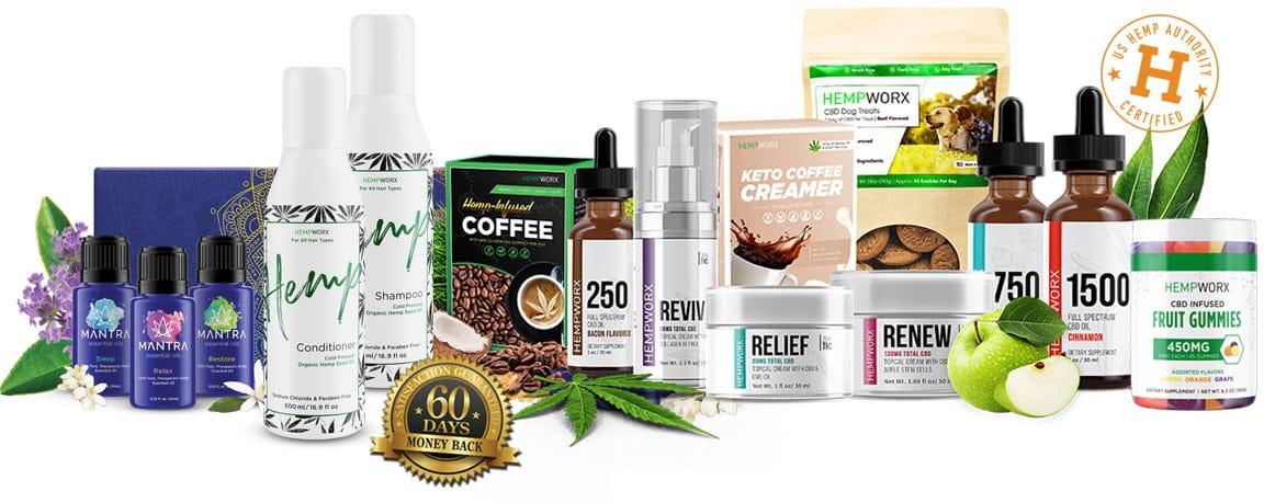 HempWorx Product Collage