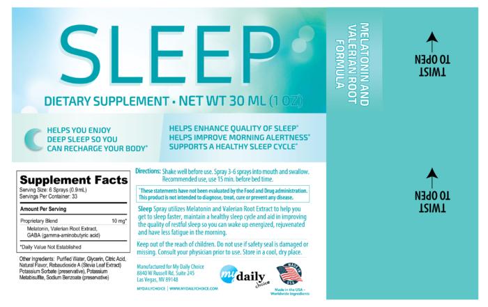 sleep spray ingredient label my daily choice hempworx